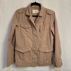 J Crew classic twill chino utility jacket
